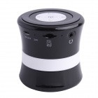 SDH-100 Mini Portable Bluetooth V3.0 Stereo Speaker w/ Mic, TF Slot - Black + White