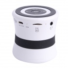 SDH-100 Mini Portable Bluetooth V3.0 Stereo Speaker w/ Mic, TF Slot - White + Black