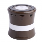SDH-100 Mini Portable Bluetooth V3.0 Stereo Speaker w/ Mic, TF Slot - Brown + Black + White