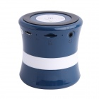 SDH-100 Mini Portable Bluetooth V3.0 Stereo Speaker w/ Mic, TF Slot - Blue + Black + White