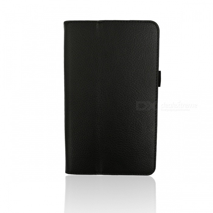 Protective PU Leather Case Cover Stand for Samsung Galaxy Tab 4 7.0 T230 - Black floveme luxury flip stand case for samsung galaxy tab3 10 1 p5200 tab3 pu leather protective cover pouch bag black for tab 3