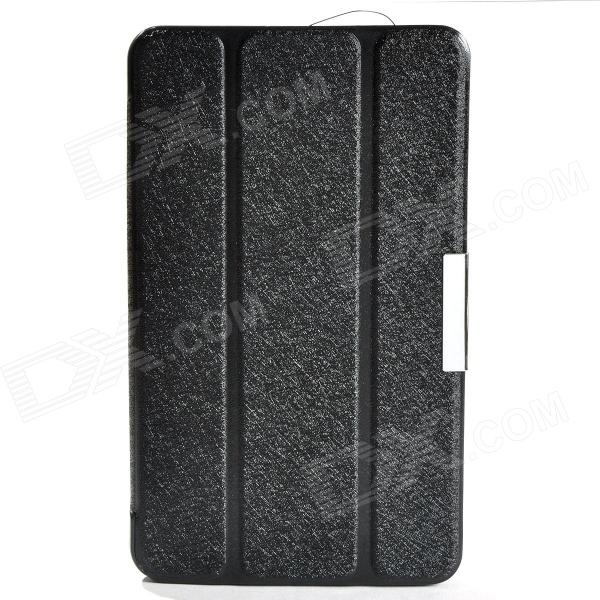 Protective PU Leather Case Cover w/ Magnetic Closure for Samsung Galaxy Tab 4 7.0 - Black protective pu leather cover case w holder for ele p3000 p3000s black