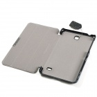 Protective PU Leather Case Cover w/ Magnetic Closure for Samsung Galaxy Tab 4 7.0 - Black