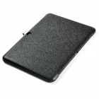 Protective PU Leather Case Cover w/ Magnetic Closure for Samsung Galaxy Tab 4 10.1 - Black