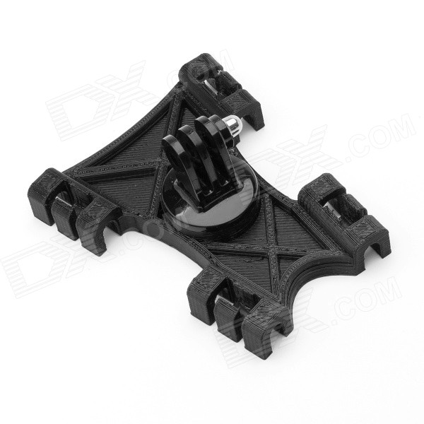 JUSTONE 3D Printing Installation Seat Kite Line Mount Holder for Gopro Hero 4/ 2 / 3 / 3+/SJ4000 - Black