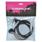 CHEERLINK Dual-USB 3.0 Female to 20-Pin USB 3.0 Cable for Front Panel of Desktop Computer - Black
