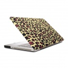 "RFH Leopard Print Protective Full Body Matte Case for MACBOOK PRO 13.3"" - Yellow + Brown"