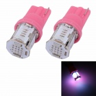 MZ T10 5W 350lm 5 x COB W5W Pink Car License Plate Light / Steering Light / Clearance Lamp - (2 PCS)