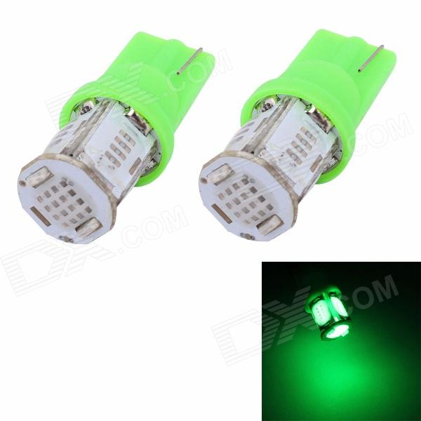 MZ T10 5W 325lm 5 x COB W5W Green Light Car License Plate Light / Steering Light / Clearance Lamp