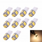 MZ T10 5W 240lm 10-SMD 5630 LED Warm White Light Car Restposten / Rückleuchten (DC 12V / 10 PCS)