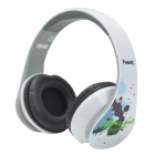 HAVIT HV-85D Adjustable Big Ear Pad Headphones w/ Microphone - White + Black