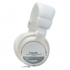 Havit HV-ST043 Adjustable Stereo Dynamic Music Headphones w/ Microphone / Shocked Bass - White