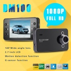 "BLACKVIEW DM100 1080P 2.7"" TFT 1.3MP CMOS Loop Recording Car DVR w/ G-sensor - Black + Silver"