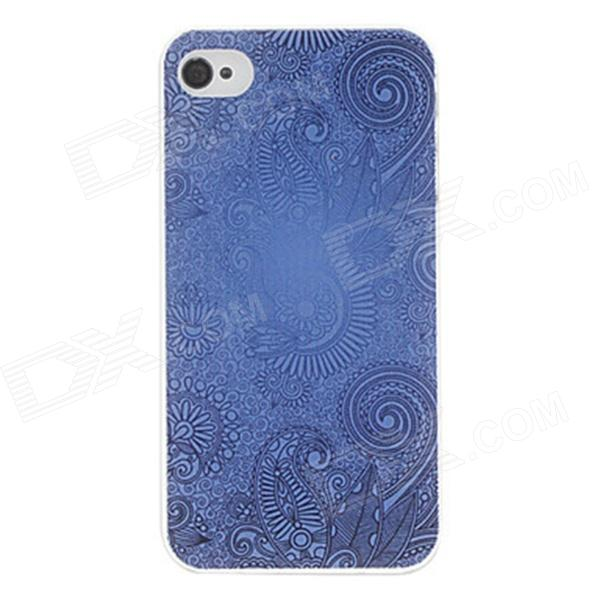 Kinston kst00053 Court Pattern Protective Plastic Hard Back Case for IPHONE 4 / 4S - Blue + Black kinston kst00045 grid pattern protective plastic hard back case for iphone 4 4s white black