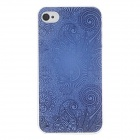 Kinston kst00053 Court Pattern Protective Plastic Hard Back Case for IPHONE 4 / 4S - Blue + Black