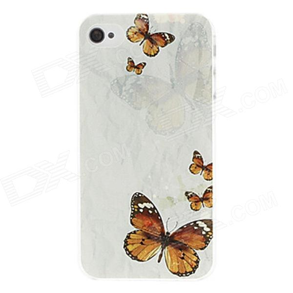 Kinston Colorful Butterfly Pattern Hard Case for IPHONE 4 / 4S butterfly bling diamond case