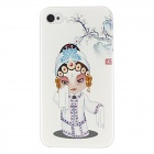 Kinston Peking Opera Woman Pattern Hard Case for IPHONE 4 / 4S