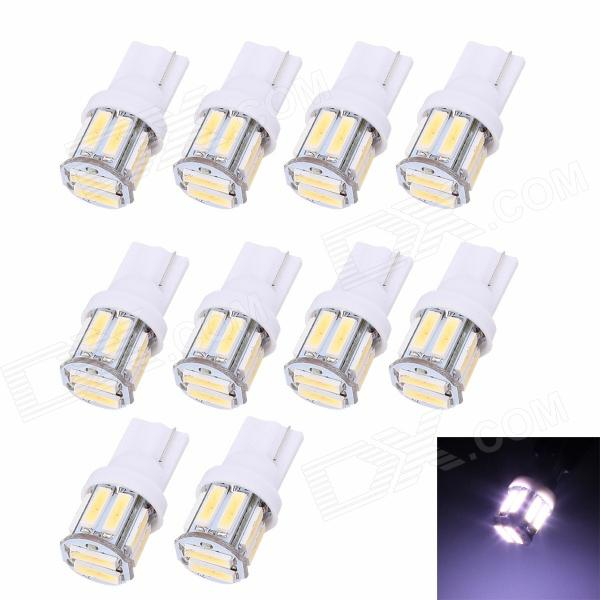 MZ T10/194/W5W 1.5W 100lm 10-SMD 7020 LED Cool White Car Clearance Lamp / Side Light (12 V/ 10 PCS) carprie super drop ship new 2 x canbus error free white t10 5 smd 5050 w5w 194 16 interior led bulbs mar713