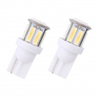 MZ T10/194/W5W 1.5W 100lm 10-SMD 7020 LED Cold White Car Clearance Lamp / Side Light (12 V/ 10 PCS)