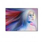 Iarts Hand Painted People Girl with Long Hair Oil Painting (40 x 60cm)