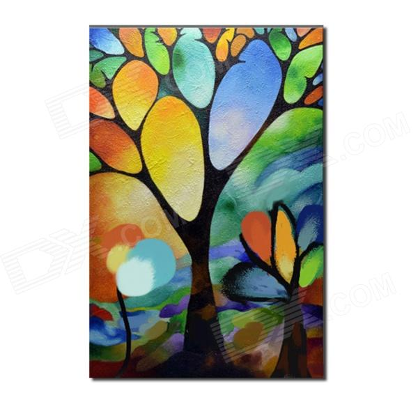 Iarts Hand Painted Landscape Abstract Simple Tree Oil Painting (40 x 60cm) iarts hand painted blue vase oil painting 60 x 40cm