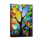Iarts Hand Painted Landscape Abstract Simple Tree  Oil Painting (40 x 60cm)