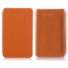ENKAY 3-Folds Protective PU Leather Case Cover Stand for Samsung Galaxy Tab 3 Lite T110 - Orange
