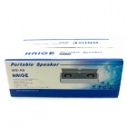 HAIGE WSA9 Portable Speaker - White + Silver (4 x AAA)