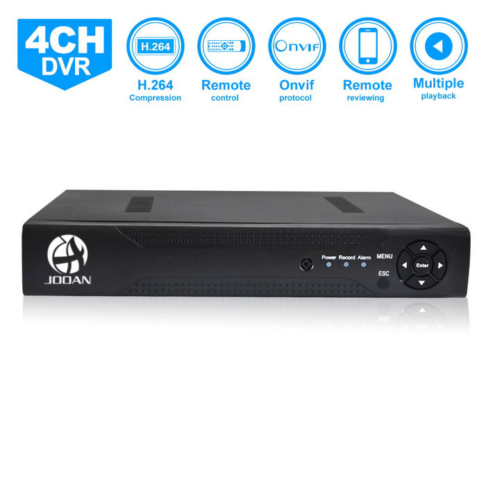 JOOAN JA-3104 4-Channel Real D1 DVR/RS485 PTZ CCTV DVR / Mobile Phone Remote Monitoring
