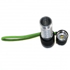 ZHISHUNJIA LED 1000lm 6500K 5-Mode Mini Zooming Flashlight - Silver + Black (1 x 18650)