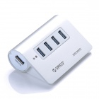 ORICO M3H4 High Speed Aluminum Alloy 4-Port USB 3.0 HUB Splitter For PC - Silver
