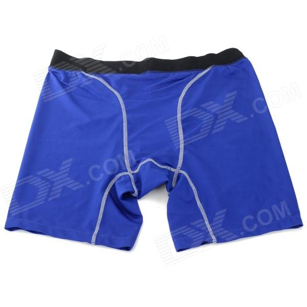 Men's Sports Dacron + Spandex Pants for Running / Climbing / Fitness Exercise - Blue (XXL)