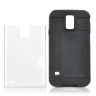 Stylish 2-in-1 TPU + PC Back Case w/ Card Slot for Samsung Galaxy S5 - White + Black
