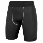 Men's Sports Dacron + Spandex Pants for Running / Climbing / Fitness Exercise - Black (L)