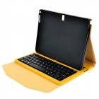 Destacável Keyboard V3.0 64-Key Bluetooth w / Open Flip Case para Samsung P600 T520 - Trigo + Preto