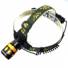 ALETO KL244 LED 700lm 3-Mode Mechanical Zoom Headlamp Bicycle Light - Black (1 x 18650)