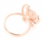 Cute Kitty Art-Verzierung Katzenauge Ring - Rose Golden + Beige