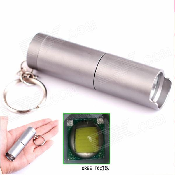 ALETO KL253H LED 700lm 3-Mode White Light Flashlight w/ Keychain - Silver (1 x 16340)