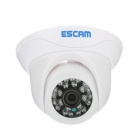 ESCAM caracol QD500 720P 1MP cámara de vigilancia IP - blanco (enchufe eu)