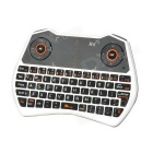 Rii RT-MWK28 Mini Keyboard + 6-axis Gyroscope Air Mouse + Touchpad for TV BOX - White + Black