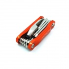 Multi-Function Portable Bicycle Stainless Steel Folding Repair Tools - Orange