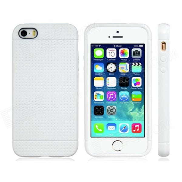 Novelty Holes Style TPU Soft Case for IPHONE 5 / 5S - White slim tpu cover case for iphone 5s 5 white dandelion