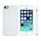 Novelty Holes Style TPU Soft Case for IPHONE 5 / 5S - White