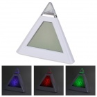 Stylish Pyramid Style Resistive Screen Digital Clock w/ RGB LED Backlight + Thermometer - White