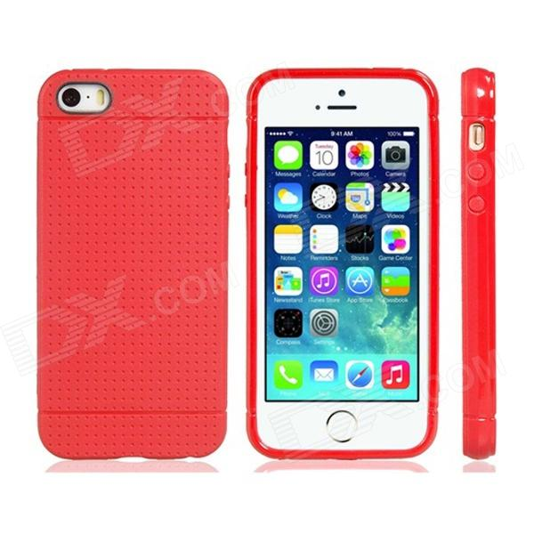 Novelty Holes Style TPU Soft Case for IPHONE 5 / 5S - Red
