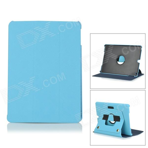 Flip Open PU Leather + PC Case w/ Stand / Hand Strap + Auto Sleep for IPAD AIR - Blue + Black statue of liberty pattern protective pu pc case w stand auto sleep for ipad air red blue