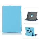 Flip Open PU Leather + PC Case w/ Stand / Hand Strap + Auto Sleep for IPAD AIR - Blue + Black