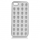 Protective Skull Style PC Back Case for IPHONE 5 - Off-white + Silver