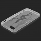 Stylish Guitar Lady Pattern TPU Back Case for IPHONE 5 / 5S - White