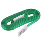 USB 2.0 to Micro USB Charging / Data Sync Cable w/ LED for Samsung / Motorola + More - Green (100cm)